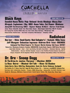 2012 coachella festival line-up