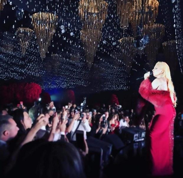 Lady Gaga Performs at a Wedding Reception