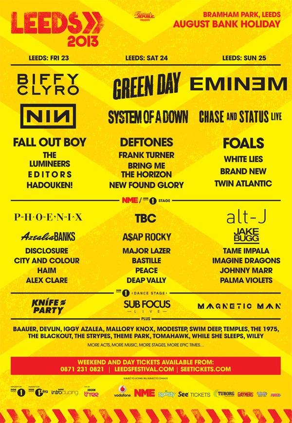 Leeds lineup